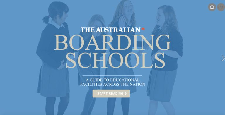 The Weekend Australian Boarding Schools Report published